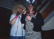 Lauren and Vicky (who seems to always have her eyes shut on photos!) singing